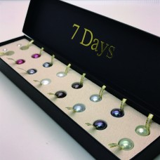 7 Days Front-to-Back Pearl Earring Box Set