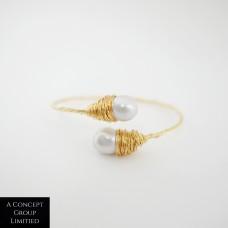 925 Sliver F.W.P Seed Pearl Bracelet