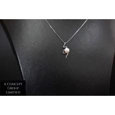 925 Sliver Fresh Water pearl pendant - Lightning type