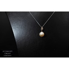14K platinum South sea pearl pendant